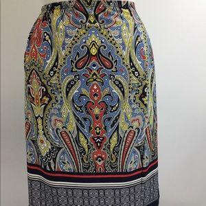 Sunny Leigh Polyester Paisley Skirt (B-24)